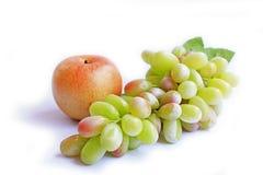 Apple et raisin Photo stock