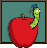 Apple et ver de terre illustration de vecteur