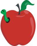 Apple et ver de terre Photos libres de droits