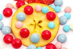 Apple et vitamines Photographie stock libre de droits