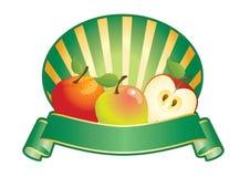 Apple etikett Royaltyfria Bilder