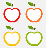 Apple etiketter Royaltyfri Foto