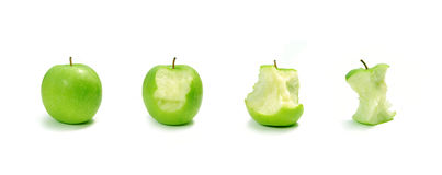 Apple evolution Royalty Free Stock Image