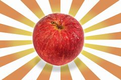 Apple and excite background Stock Photography