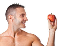 Apple and exercise Royalty Free Stock Photo