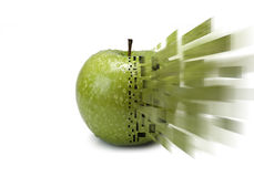 Apple explosion. Royalty Free Stock Photo