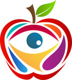 Apple with eye. A vector drawing represents apple with eye design Stock Photo