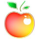 Farbiger Apfel Stockfoto