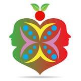 Apple förälskelsepar stock illustrationer