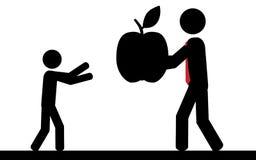 Apple för barn Arkivbild