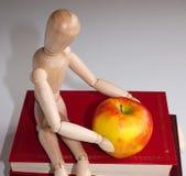Apple für den Lehrer Stockbild