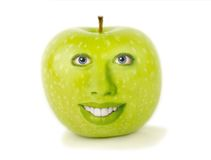 Apple face Stock Image