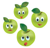 Apple Face Expressions Royalty Free Stock Photography