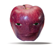 Apple with a face Royalty Free Stock Photography