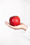 Apple in female hand Stock Photography