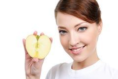 apple female portrait Στοκ εικόνες με δικαίωμα ελεύθερης χρήσης