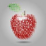 Apple fez das letras Fotografia de Stock