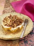 Apple, fico secco, nocciola e miele Tiramisu Fotografie Stock Libere da Diritti