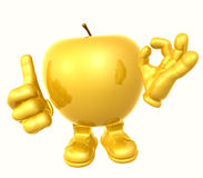 apple figure. Character 3d illustration Royalty Free Stock Images