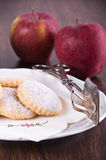 Apple filled cookies. Royalty Free Stock Photography