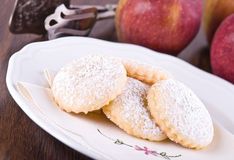Apple filled cookies. Royalty Free Stock Photo