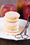 Apple filled cookies. Royalty Free Stock Image