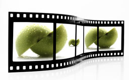 Apple Film Strip Stock Image