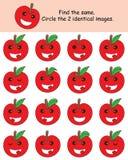 Apple finner samma royaltyfri illustrationer