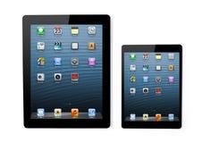Apple-Firma hat ein neues Mini iPad gezeigt Stockfotos