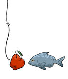 Apple and fish Stock Photos