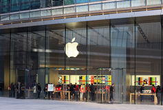 Apple flagship store. Located in the main entertainment district of Beijing-Sanlitun Royalty Free Stock Photo