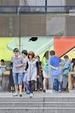 Apple flagship store Shanghai, China Stock Photo