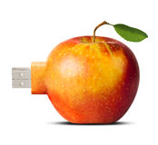 Apple flash card - new technology concept Royalty Free Stock Photography