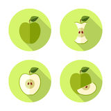 Apple Flat Icon Royalty Free Stock Images