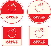Apple Flavor Food Labels Stock Images
