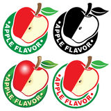 Apple Flavor Seal / Mark Royalty Free Stock Photography