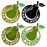 Apple Flavor Seal / Mark Royalty Free Stock Photos