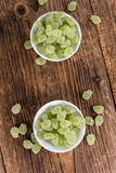 Apple flavoured gummy candy (close-up shot). Apple flavoured gummy candy (close-up shot; selective focus Royalty Free Stock Photography