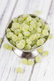Apple flavoured gummy candy (close-up shot). Apple flavoured gummy candy (close-up shot; selective focus Royalty Free Stock Photo