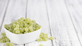Apple flavoured gummy candy (close-up shot). Apple flavoured gummy candy (close-up shot; selective focus Stock Photo