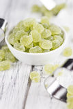 Apple flavoured gummy candy (close-up shot). Apple flavoured gummy candy (close-up shot; selective focus Stock Photos