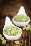 Apple flavoured gummy candy close-up shot. Selective focus Stock Image