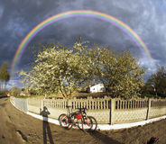 Apple floresce tempestade das nuvens Foto de Stock Royalty Free