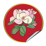 Apple flower sticker Royalty Free Stock Photography