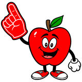 Apple with Foam Finger Stock Image