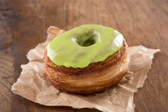 Apple fondant croissant and donut mixture stock photography