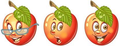 Apple. Food Emoji Emoticon collection royalty free stock photo