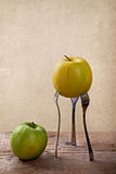 Apple on Forks Royalty Free Stock Photography