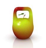 Apple in Form von dem Gewicht Stockbilder