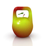Apple in the form of the weight Stock Images
